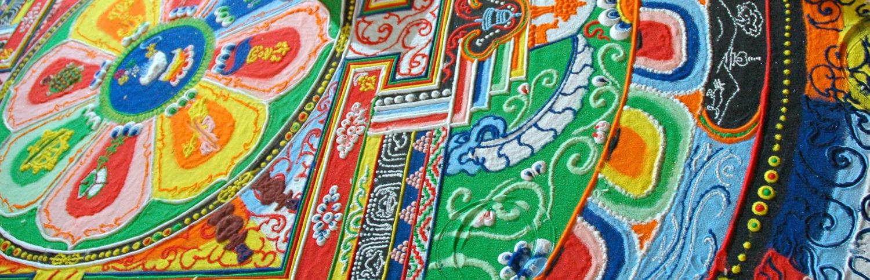Mandala; símbolo del Universo en el Budismo y el Hinduísmo.
